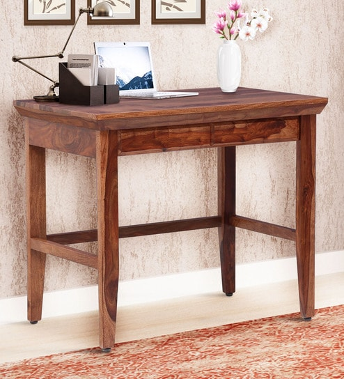 Stupendous Puebla Solid Wood Writing Table In Rustic Teak Finish By Woodsworth Download Free Architecture Designs Grimeyleaguecom