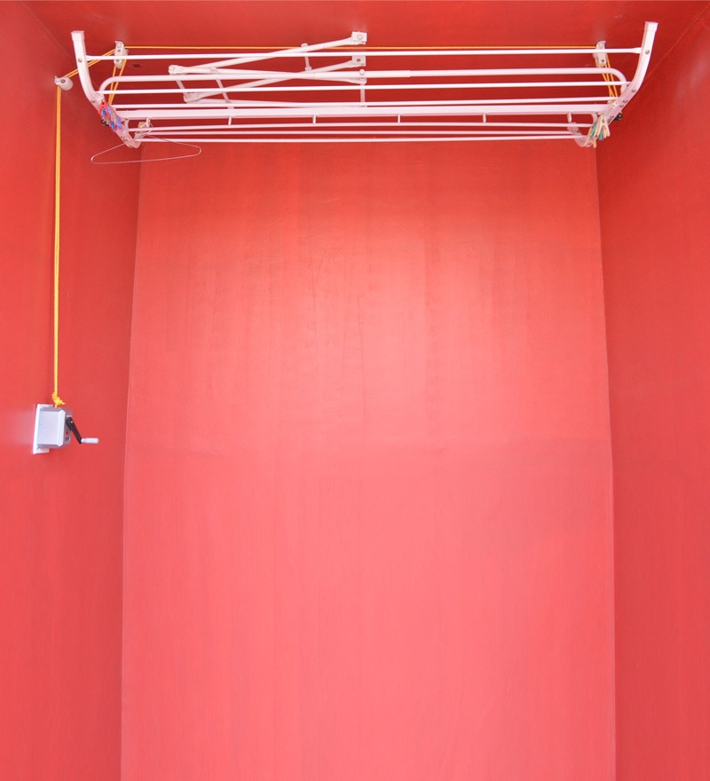 Pull N Dry Pulley Aluminium 6 Lines 6 Ft With Arm & Roto Device Clothes Dryer
