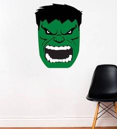 PVC Vinyl Super Hero Hulk Face Wall Sticker