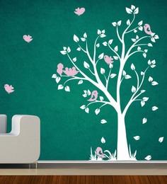 PVC Vinyl White Tree Wall Sticker Part 89