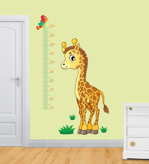 cb3cf3239 Buy PVC Vinyl 28 x 55 Inch Kids Height Measurement with Giraffe Wall Sticker  by Print Mantras Online - Kids Wall Stickers - Wall Stickers - Wall Art ...