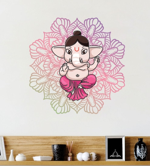 buy pvc vinyl abstract lord ganesha wall stickerwall attraction