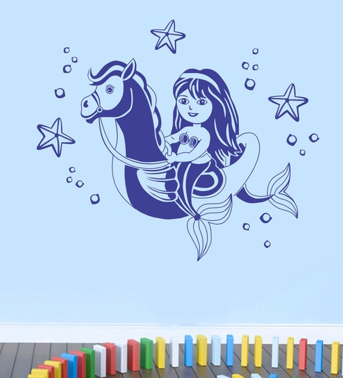 buy pvc vinyl baby mermaid wall stickerdecor kafe online - kids