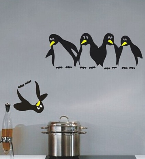 Buy PVC Vinyl Beautiful 5 Funny Penguins Wall Stickers by Print ...