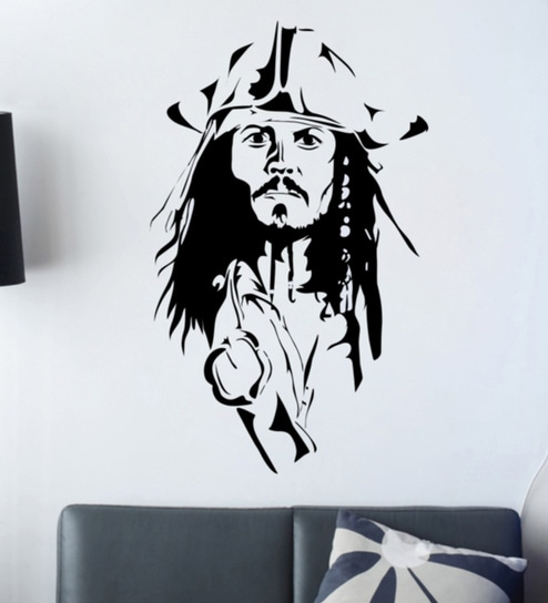 f2640d323e0 Buy PVC Vinyl Captain Jack Sparrow Wall Sticker by Decor Kafe Online - Kids Wall  Stickers - Wall Stickers - Wall Art - Pepperfry Product