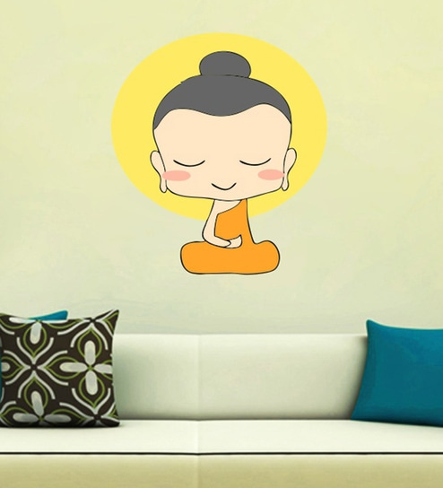 buy pvc vinyl cute buddha wall stickerwall attraction online