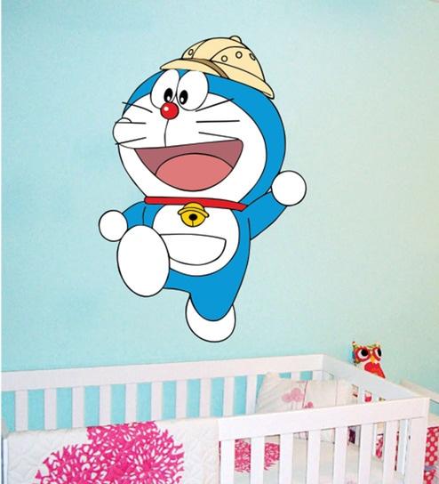buy pvc vinyl doraemon wall stickerwall attraction online - kids