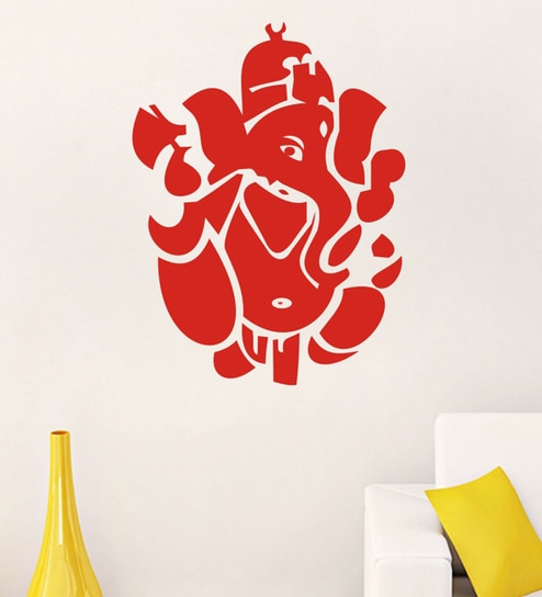 39c66212e31 Buy PVC Vinyl Ganesha Wall Sticker by Decor Kafe Online - Spiritual Wall  Stickers - Wall Stickers - Wall Art - Pepperfry Product