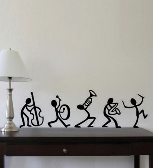Pvc vinyl happy band wall stickers by print mantras