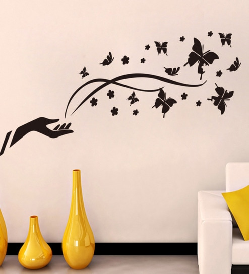 ffb44e63952 Buy PVC Vinyl Imagination Butterflies Wall Sticker by Decor Kafe Online -  Floral Wall Stickers - Wall Stickers - Wall Art - Pepperfry Product