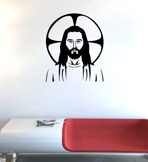 8dccf658535 Buy PVC Vinyl Jesus Wall Sticker by Decor Kafe Online - Spiritual Wall  Stickers - Wall Stickers - Wall Art - Pepperfry Product