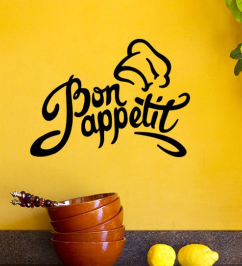 PVC Vinyl Kitchen Decor Bon Appetit Wall Sticker By Wall Attraction