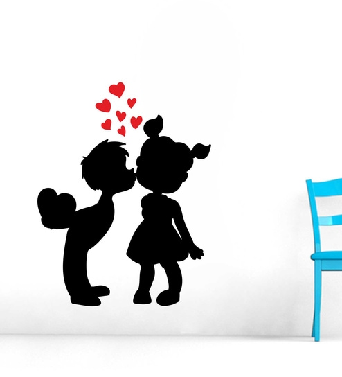 PVC Vinyl Love Couple Perfect Wall Sticker By Wall Attraction
