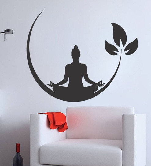 354ef638ac8 Buy PVC Vinyl Meditation Buddha Wall Sticker by Wall Attraction Online - Spiritual  Wall Stickers - Wall Stickers - Wall Art - Pepperfry Product