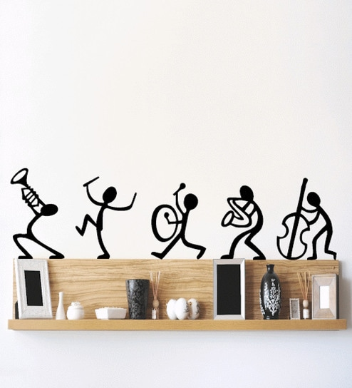 buy pvc vinyl musical instruments happy band living room wall