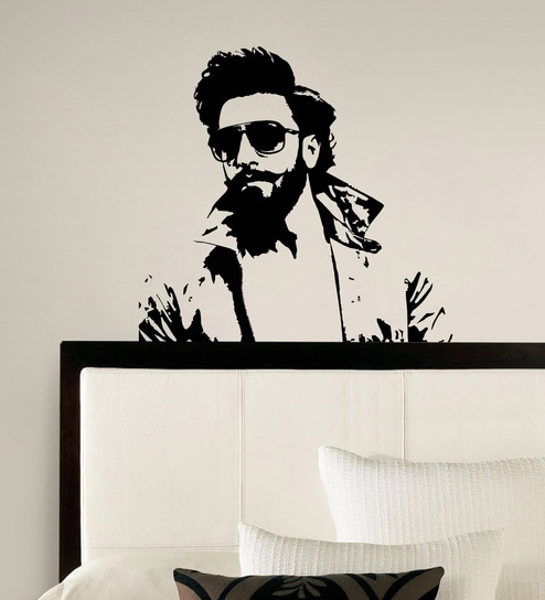 buy pvc vinyl ranveer singh bollywood wall stickerdecor kafe