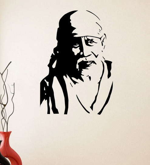 f0a2e32d7ec Buy PVC Vinyl Sai Baba Wall Sticker by Decor Kafe Online - Spiritual Wall  Stickers - Wall Stickers - Wall Art - Pepperfry Product