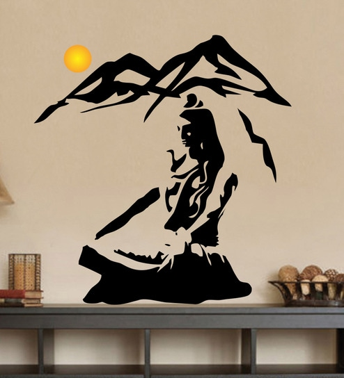e61c2ac44a3 Buy PVC Vinyl Shiva Himalaya Wall Sticker by Decor Kafe Online - Spiritual  Wall Stickers - Wall Stickers - Wall Art - Pepperfry Product