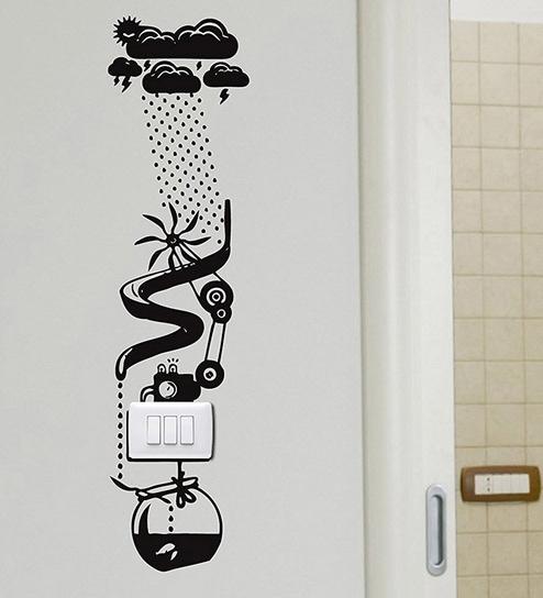 buy pvc vinyl switchboard water power light switch decor vinyl wall