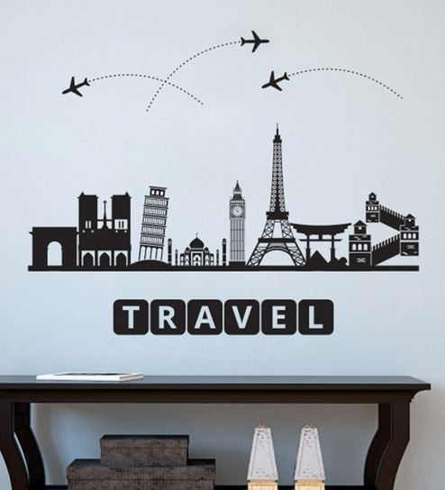 buy pvc vinyl travel to the wonders wall stickerwall attraction