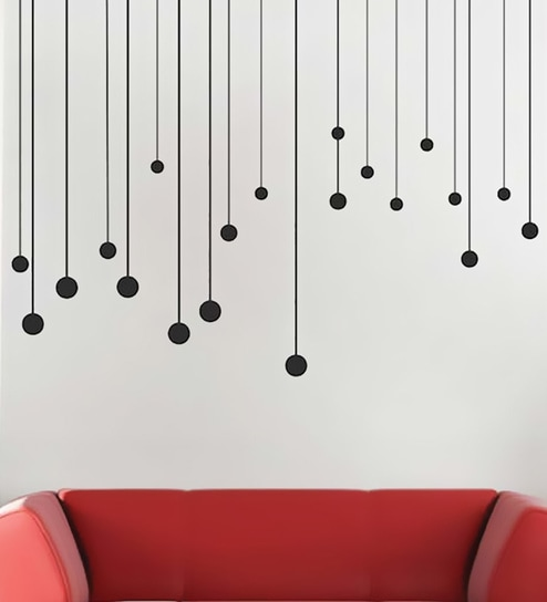 556f71f94d Buy PVC Vinyl Trendy Round Drops Wall Stickers by Print Mantras Online -  Kids Wall Stickers - Wall Stickers - Wall Art - Pepperfry Product