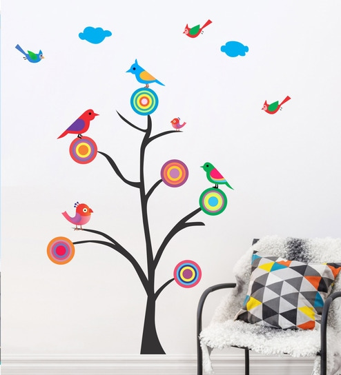 e26e676630b Buy PVC Vinyl Whistle Birds Wall Sticker by Decor Kafe Online - Animal Wall  Stickers - Wall Stickers - Wall Art - Pepperfry Product