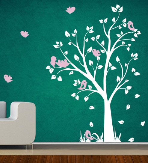 Buy Pvc Vinyl White Tree Wall Sticker By Decor Kafe Online Floral