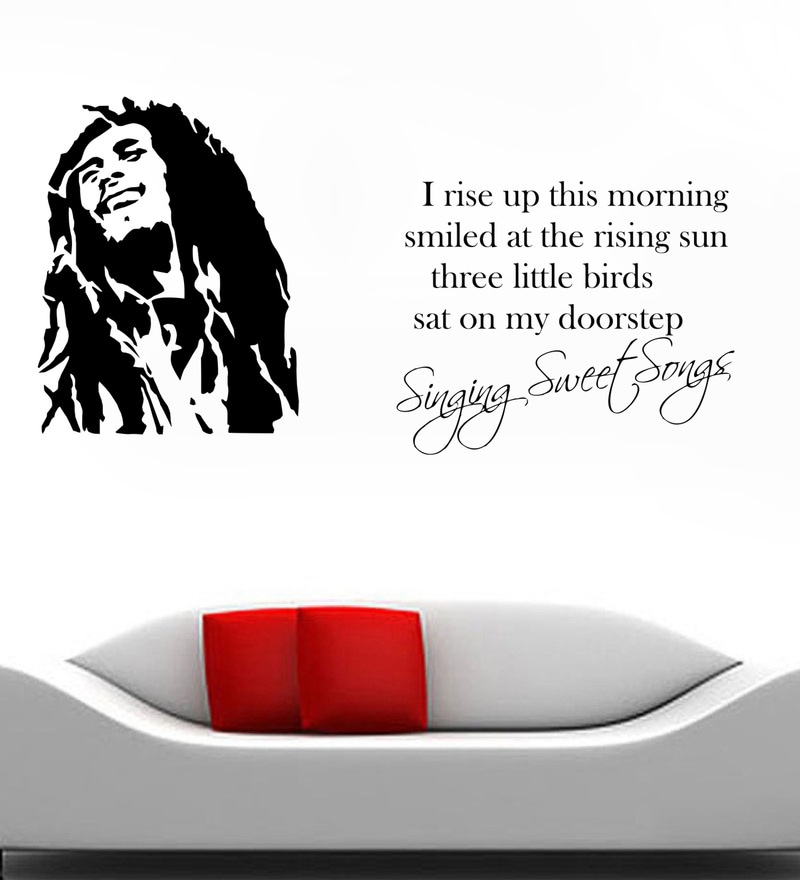 PVC Vinyl Bob Marley Wall Sticker by Decor Kafe