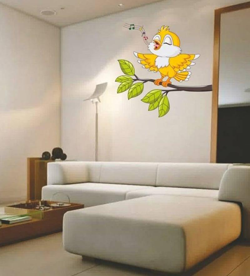 Yellow And Green Kids Room Ideas: Buy PVC Vinyl Yellow Singing Bird Tweety Kids Room Design