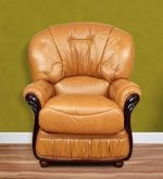 Queen One Seater Sofa in Mustard Colour