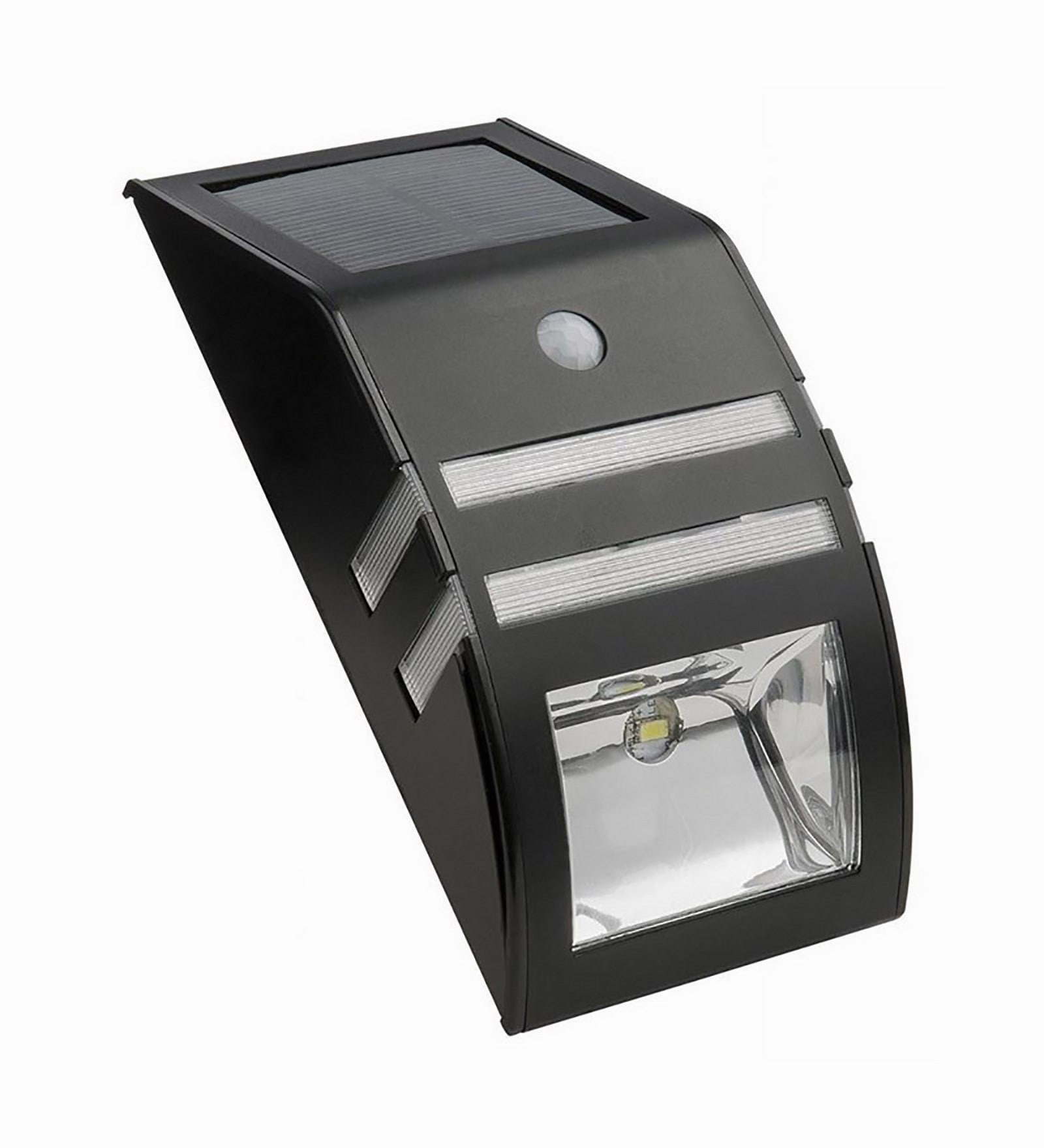Solar Black Solar Wall Light with Motion Sensor by Quace