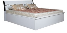 Queen bed with Hydraulic Storage in Black & White Colour