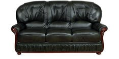 Queen Three Seater Sofa in Dark Green Colour