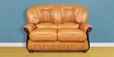 Queen Two Seater Sofa in Mustard Colour