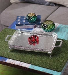 Queen Anne Silver Metal Serving Tray - 1271526