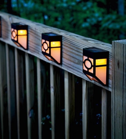 control lights powered waterproof lamp wall lighting from item fence remote garden on in light solar pathway led outdoor lamps