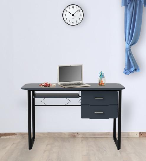 Quarto Office Study Table in Graphite Black Color by Godrej Interio