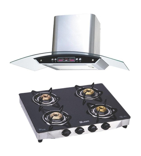 Quba 1115 Electric Chimney G402a Gas Stove Combo Online