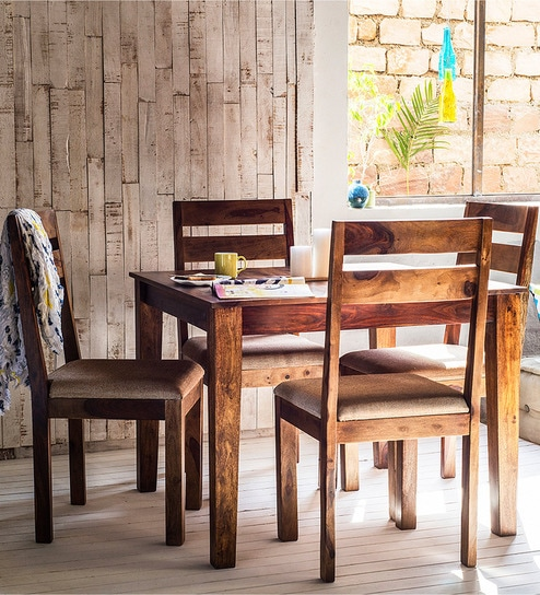 Buy Lomira Four Seater Dining Set in Provincial Teak Finish by