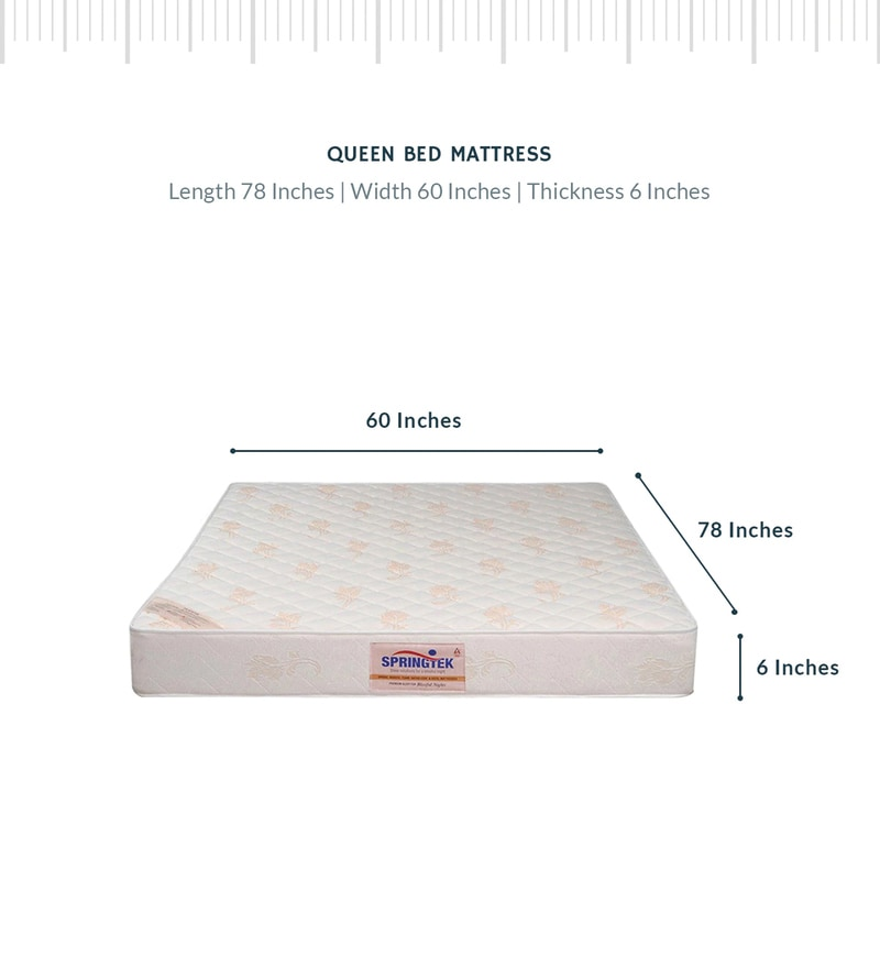 Buy Queen Size 78x60x6 Inch Pocketed Spring Mattress Free Pillow