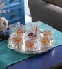 Queen Anne Silver Plated Glass 8-piece Tea Set