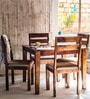 Lomira Four Seater Dining Set in Provincial Teak Finish by Woodsworth