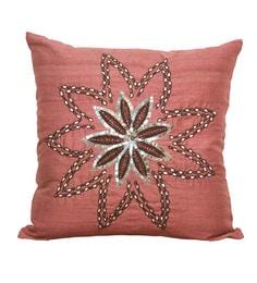 R Home Multicolour Silk 18 X 18 Inch Embroidery Cushion Cover