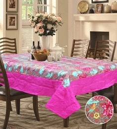 r home floral multicolour polyester table cover