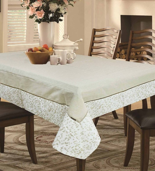 Pepperfry & Cotton Multicolour Table Cloth by R Home