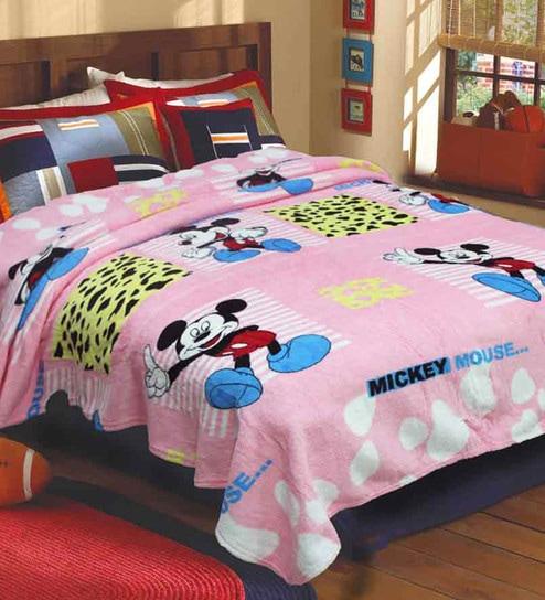 R Home Multicolour Fleece 79 X 87 Inch Blanket
