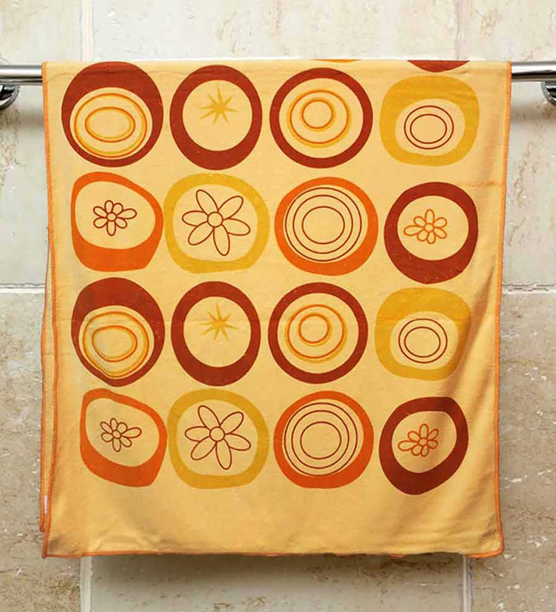 R Home Peach Terry Cotton 27 x 55 Bath Towel
