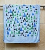 R Home Blue Terry Cotton 28 x 55 Bath Towel