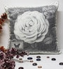 R Home Grey Cotton 16 x 16 Inch Digital Printed Cushion Cover