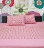 R Home Pink Double Bedsheet Set